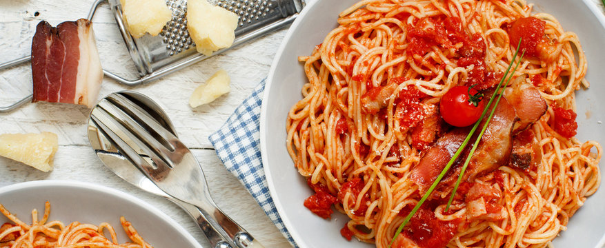 Spaghetti alla amatriciana