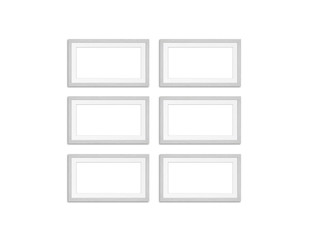 Photo frames collage, mockup isolated on white background, 3d illustration