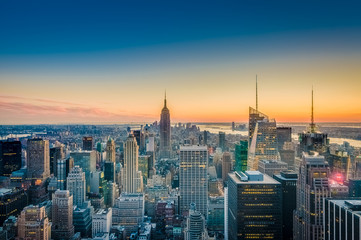 Downtown Manhattan in New York, United States.