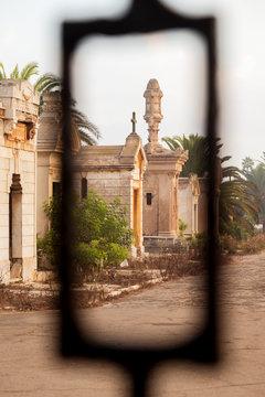 Mausoleum at Christian cemetery in Casablanca, Morocco