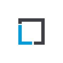 l logo vector icon template