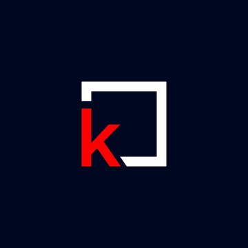 k logo vector icon template