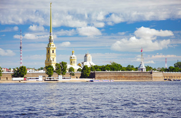 Peter and Pavel Fortress skyline