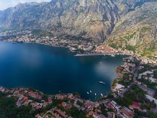 Aerial view of Bay of Kotor