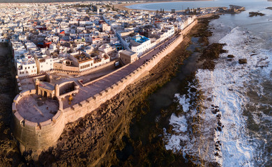 Canvas Prints Air photo Aerial panorama of Essaouira city