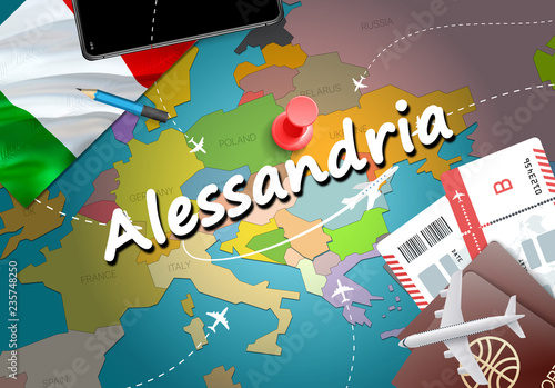 Alessandria Italy Map.Alessandria City Travel And Tourism Destination Concept Italy Flag