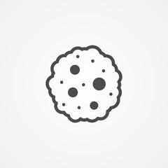 Cookie vector icon sign symbol