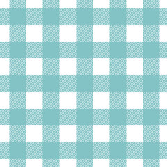 Seamless vector plaid, check pattern blue and white. Design for wallpaper, fabric, textile, wrapping. Simple background