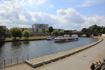 River Spree close to Main Station in Berlin, Germany