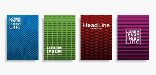 Modern abstract design covers set. Vector illustration.