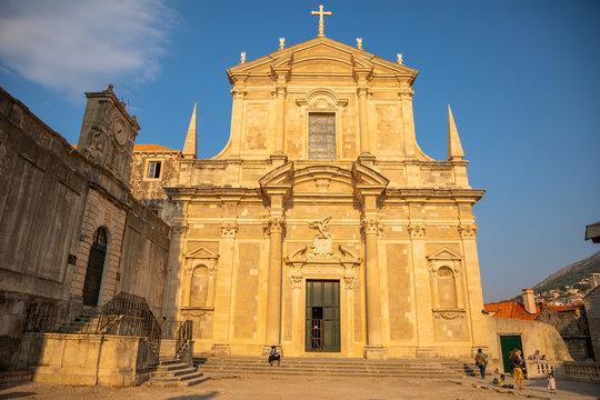 Jesuit church of St. Ignatius in Dubrovnik, Croatia