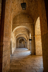 Interior of Fort Lovrijenac, St. Lawrence Fortress building architecture in Dubrovnik, Croatia
