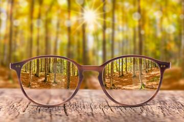 Brille gegen Sehschwäche bringt scharfen Durchblick