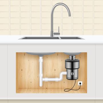 Kitchen Sink Food Waste Disposer