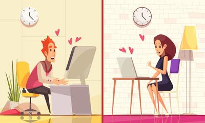 Virtual Real Love Banners