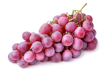 Wall Mural - bunch of red grapes isolated on white background