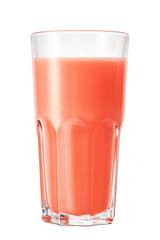 Wall Mural - glass of grapefruit juice isolated on white background