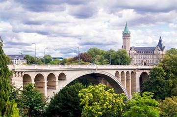 Brücke über Schlucht in Luxemburg