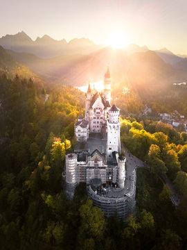 Fairy Tail Castle Neuschwanstein at Sunset –Germany