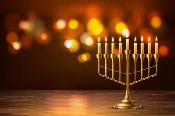Vector hanukkah jewish holiday menorah david star Wall mural