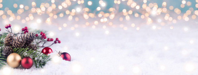 Christmas Winter Background Panorama