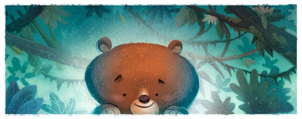 oso en la selva Fotomurales