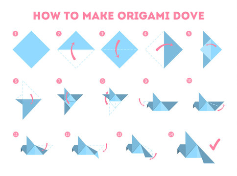 How to make an origami dove guide.