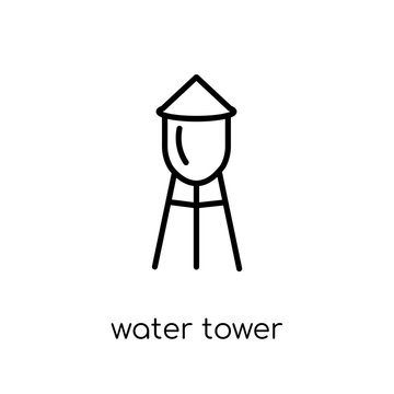 Water tower icon from Agriculture, Farming and Gardening collect