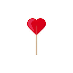 Heart shaped lollipop icon. Element of sweet icon for mobile concept and web apps. Detailed Heart shaped lollipop icon can be used for web and mobile