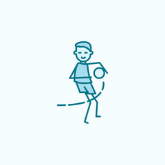 goalkeeper catches ball field outline icon. Element of soccer player icon. Thin line icon for website design and development, app development. Premium icon