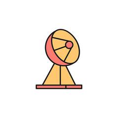 satellite dish icon. Element of space outline color icon. Thin line icon for website design and development, app development. Premium icon