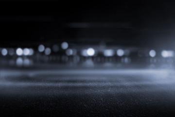 Creative blurry outdoor asphalt background with mist light high speed Fotomurales