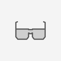 spectacles field outline icon. Element of 2 color simple icon. Thin line icon for website design and development, app development. Premium icon