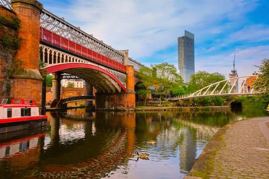 Castlefield, inner city conservation area in Manchester, UK