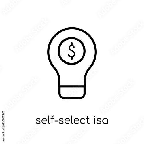 Self-select Isa icon  Trendy modern flat linear vector Self