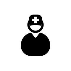 nurse icon vector glyph style. medicine icon