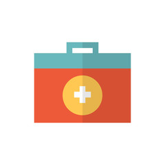 medical kit icon vector flat style. medical icon