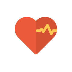 heart icon vector flat style. medical icon