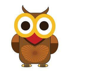 sweet owl open eyes very big