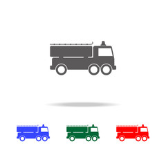 fire engine icon. Elements of fireman in multi colored icons. Premium quality graphic design icon. Simple icon for websites, web design, mobile app, info graphics