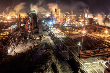 Night lights of the industrial center