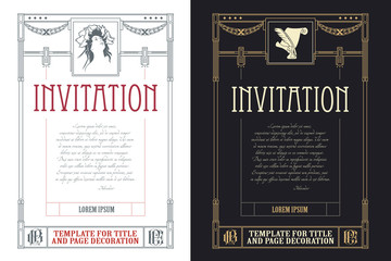 Template flyer, invitations or greeting cards
