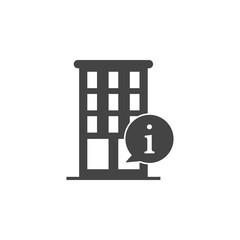 building, information icon. Element of business plannin icon. Glyph icon for website design and development, app development. Premium icon