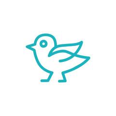 Bird Line Art Logo, Icon, Sign Vector Design Template