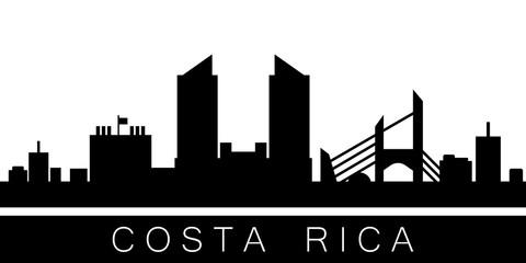 Costa Rica detailed skyline. Vector postcard illustration
