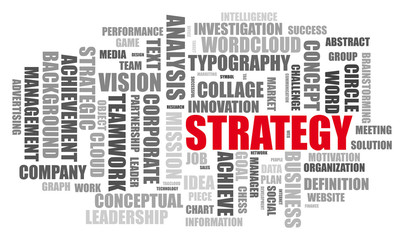 Strategy Word Cloud Collage