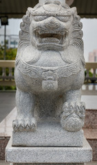Guardian Lion Foo Fu guard stone statue