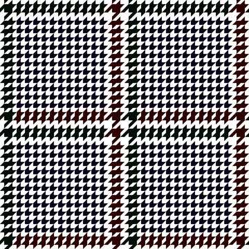 Check Fashion Seamless Pattern with Hounds Tooth