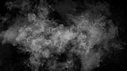 Abstract smoke mist fog on a black background. Texture. Design element.