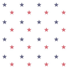 Seamless vector pattern with stars on white .